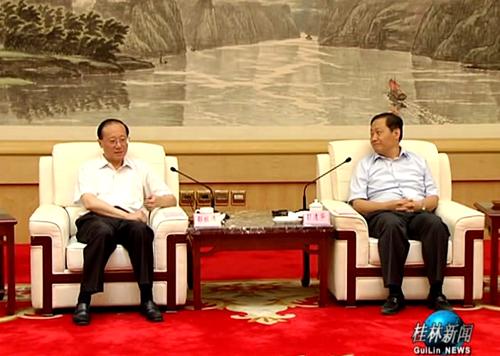 彭清华陈武在桂林会见国家旅游局局长邵琪伟